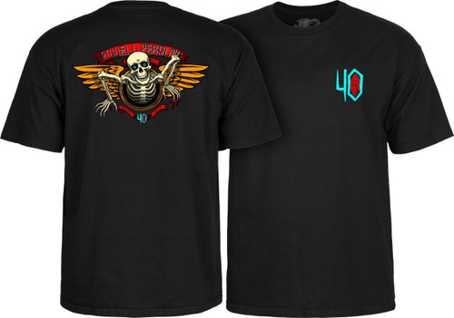 Powell Peralta Old School 40th Anniversary Winged Ripper T-Shirt (Available in 4 Colors)