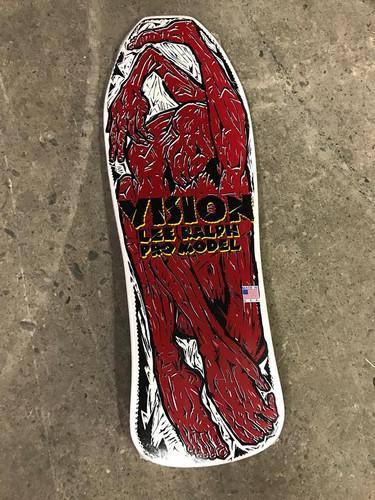 """Vision Lee Ralph Contortionist Old School Reissue Deck White 10.25"""" X 30.5"""""""