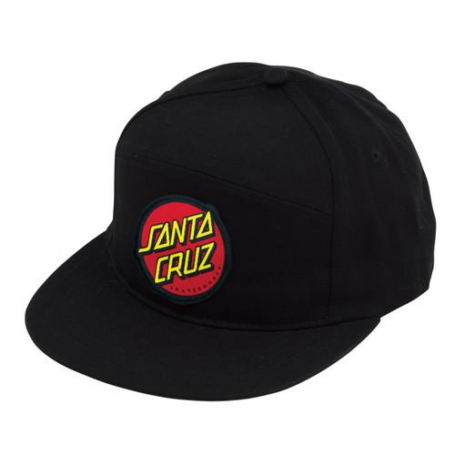 Santa Cruz Classic Dot Black Snapback Hat