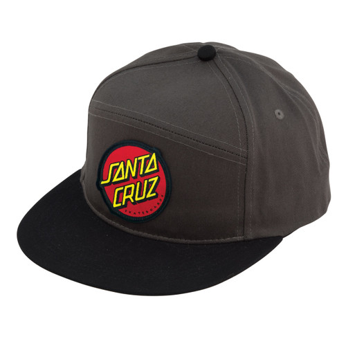 Santa Cruz Classic Dot Charcoal / Black Snapback Hat