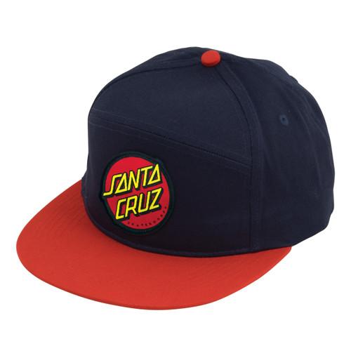 Santa Cruz Classic Dot Navy / Red Snapback Hat