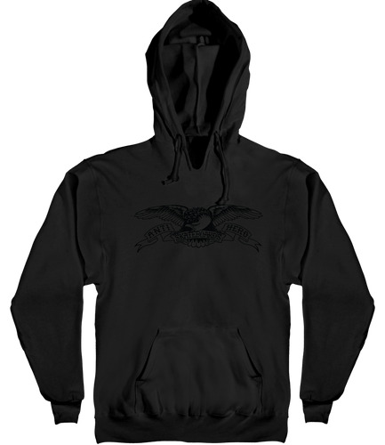 Antihero Basic Eagle Pullover Hooded Sweatshirt Black