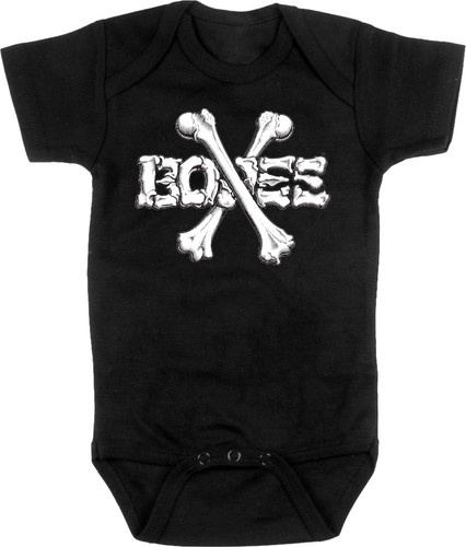 Powell Peralta Crossbones Onesie Black
