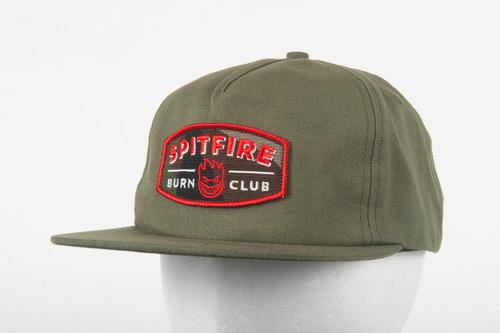 Spitfire Skateboard Wheels Burn Club Patch Unstructured Strapback Hat