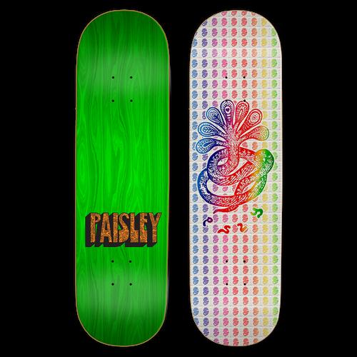 "Paisley Skates Loops Deck 8.38"" X 32.25"""
