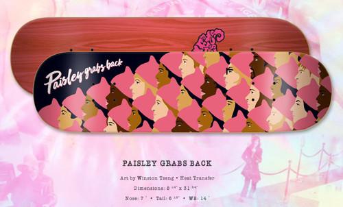 "Paisley Skates Paisley Grabs Back Deck 8.25"" X 31.75"""