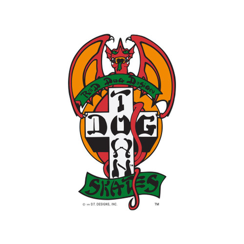 Dogtown Red Dog Sticker