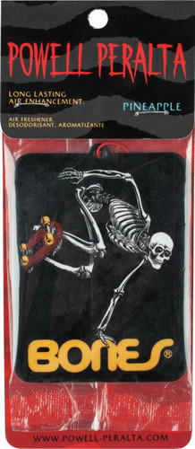Powell Peralta Skating Skeleton Air Freshener Pineapple