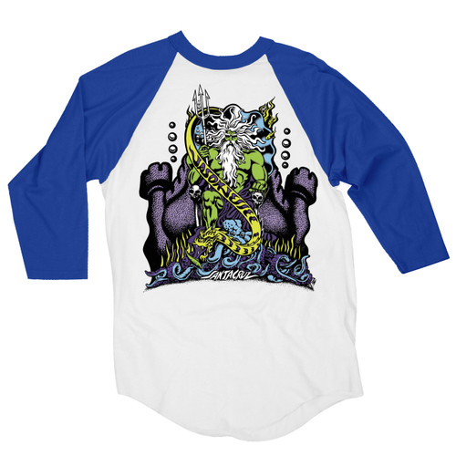 Santa Cruz Jessee Neptune Raglan T-Shirt (Available in 2 Colors)
