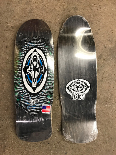 "Vision Gator Reptile Ankh Old School Reissue Deck Black Stain w/ White 10.25"" X 31.5"""