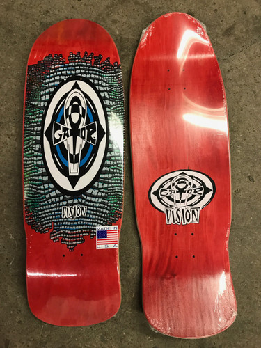 "Vision Gator Reptile Ankh Old School Reissue Deck Red Stain 10.25"" X 31.5"""