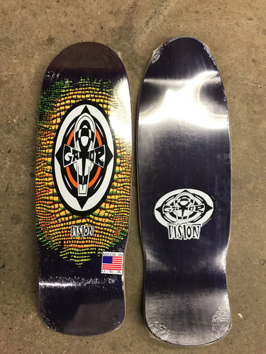 "Vision Gator Reptile Ankh Old School Reissue Deck Purple Stain w/ Yellow 10.25"" X 31.5"""