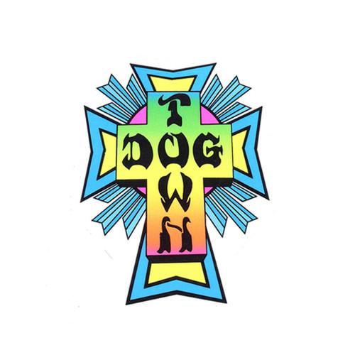 Dogtown Neon Cross Logo Sticker
