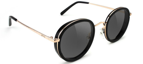 Glassy Lincoln Black & Gold Sunglasses