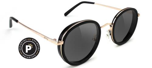 Glassy Polarized Lincoln Black & Gold Sunglasses