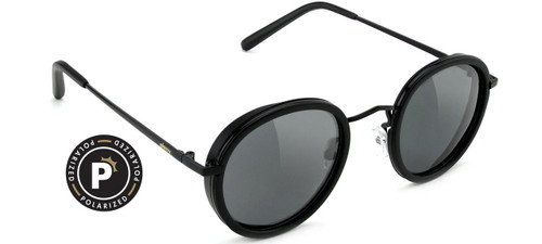 Glassy Polarized Lincoln Black Matte Sunglasses