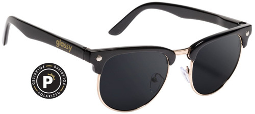 Glassy Polarized Morrison Black & Gold Sunglasses
