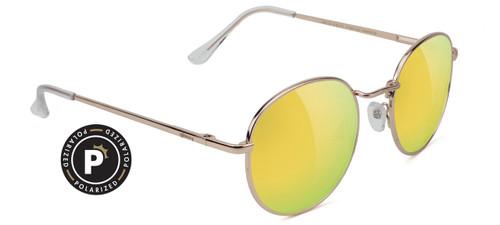 Glassy Polarized Carlos Gold Mirror Sunglasses