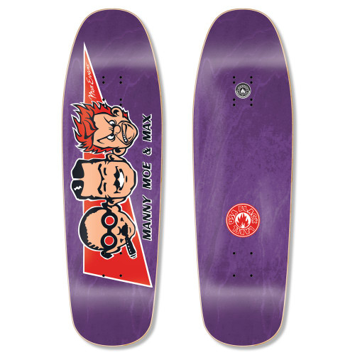"""Black Label Max Evans """"Manny, Moe, and Max"""" Re-Issue Deck 9.63"""" x 32"""""""