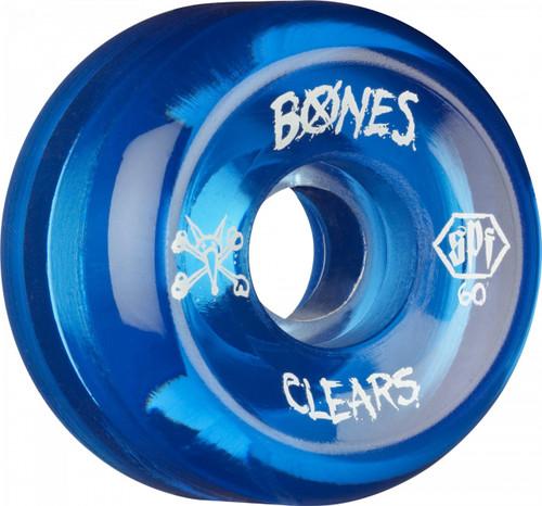 Bones SPF Blue Clears Wheels 60mm 4pk