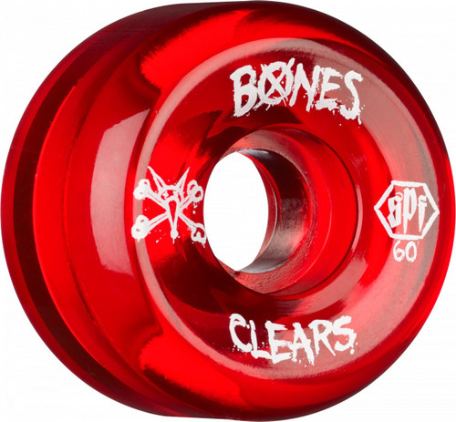 Bones SPF Red Clears Wheels 60mm 4pk