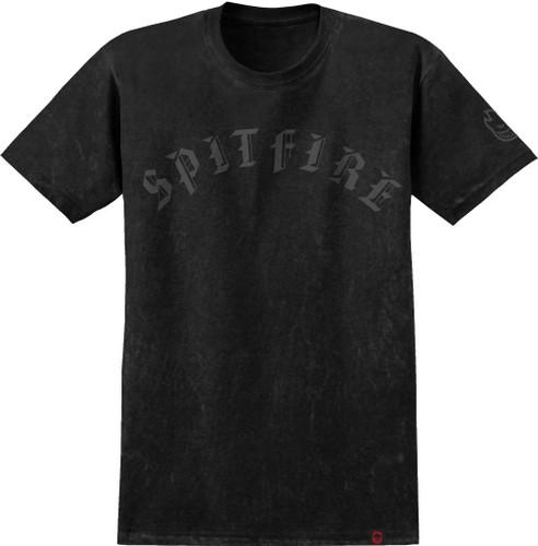 Spitfire Wheels Old E T-Shirt (Silver Black Wash)