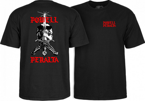 **Pre-Order** Powell Peralta Old School Skull & Sword Chainz T-Shirt (Available in 2 Colors)