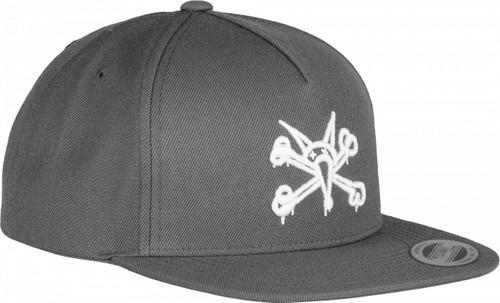 Powell Peralta Vato Rat Snapback Hat Grey