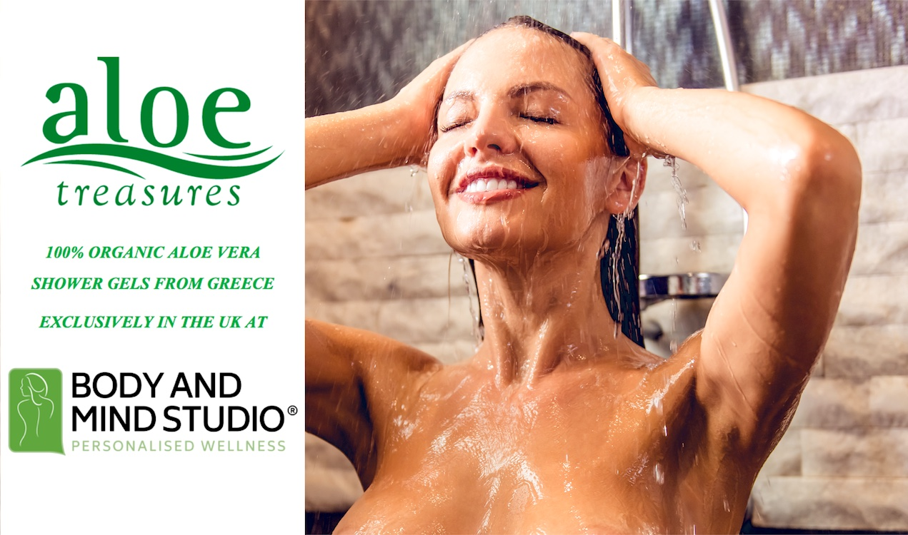 Aloe Treasures Shower Gels at Body and Mind Studio