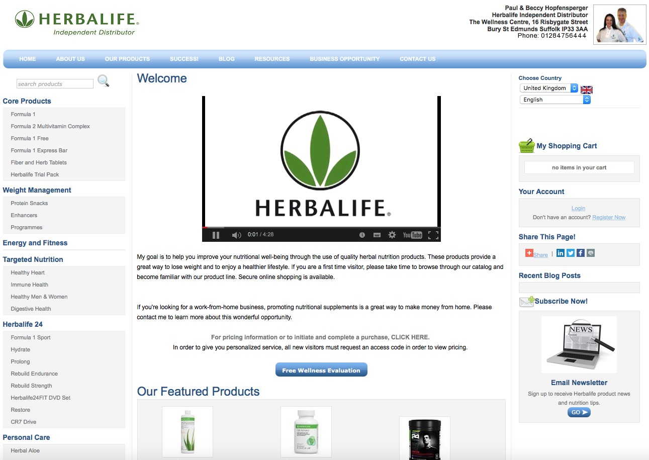 Body and Mind Studio Herbalife Webshop