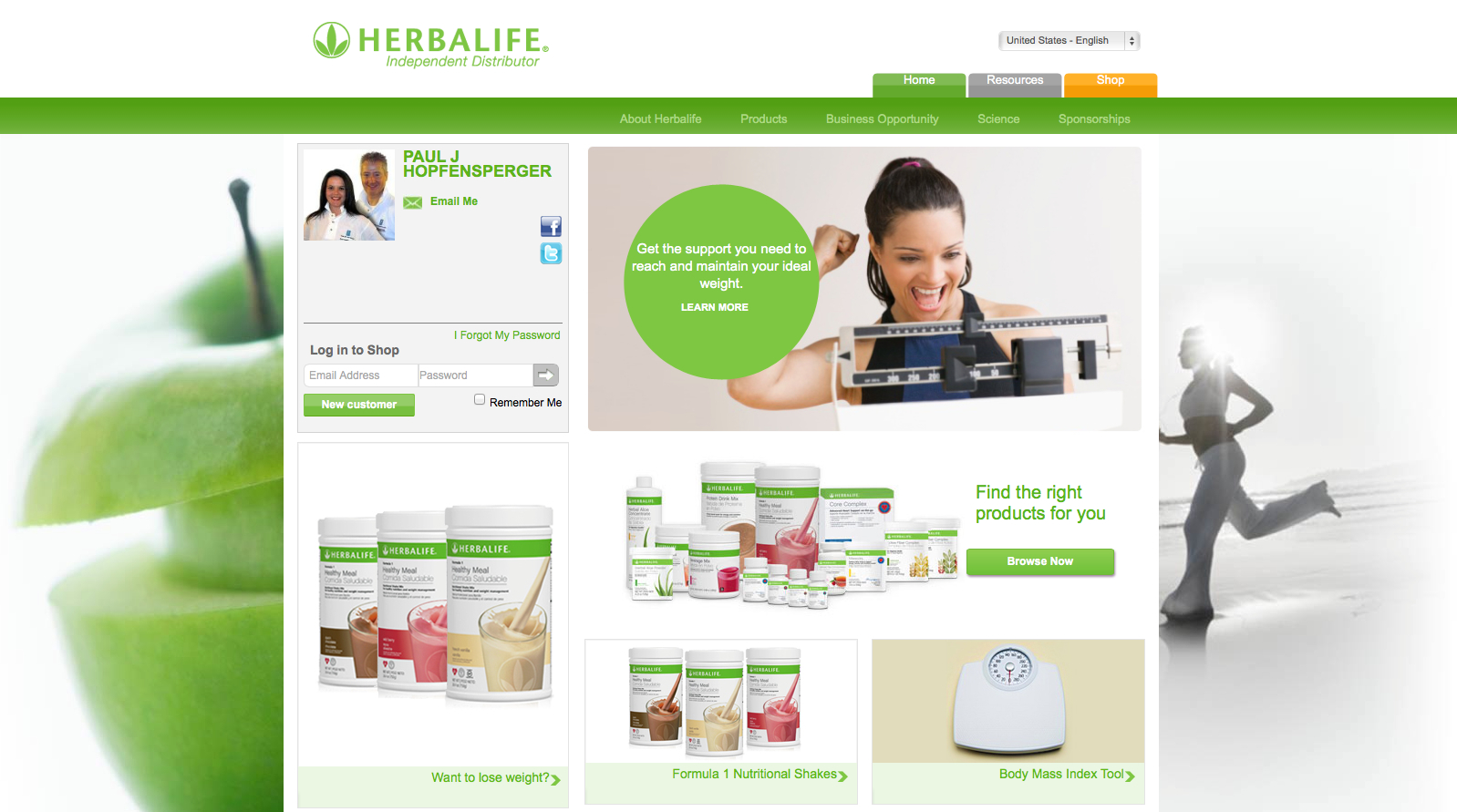 Visit our Herbalife USA Webshop by clicking here...