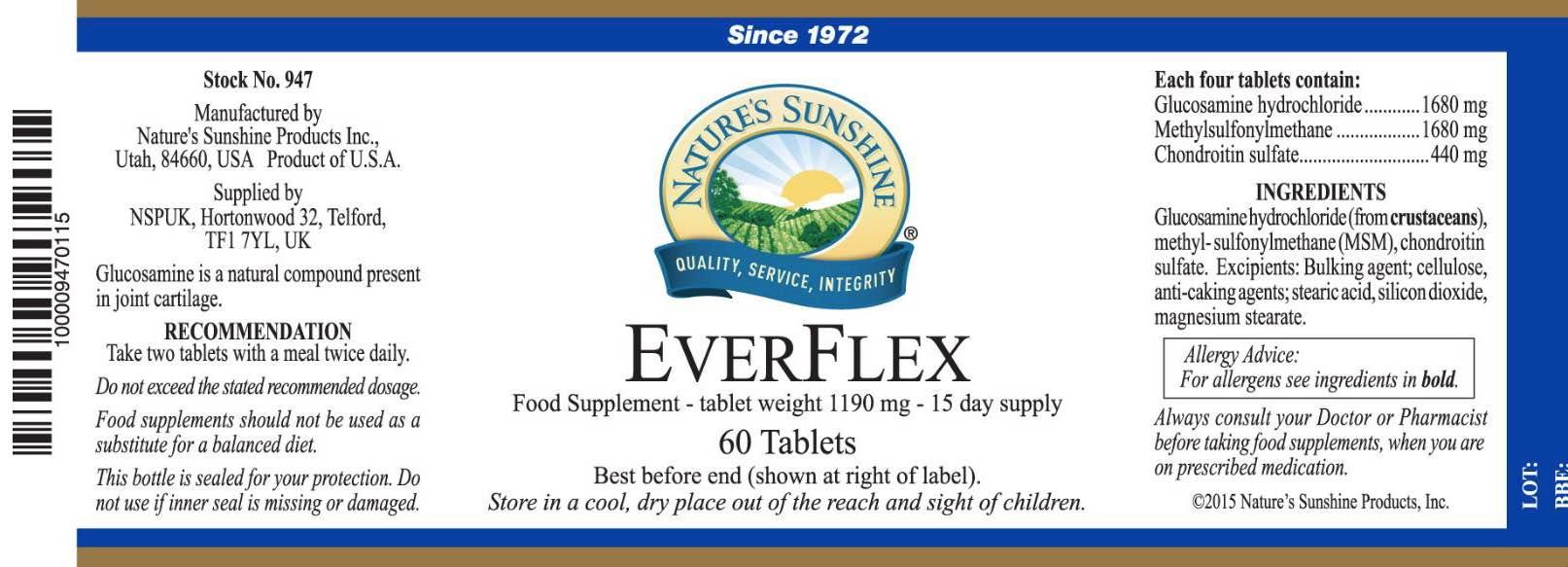 Nature's Sunshine - EverFlex - Label