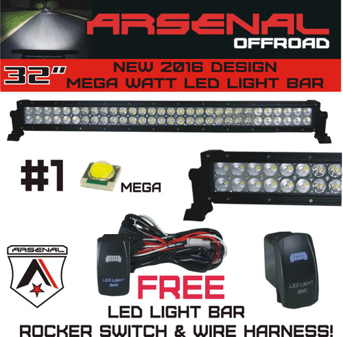 Copy of no1 32 arsenal offroad led light bar new 2017 design flood image 1 aloadofball Gallery