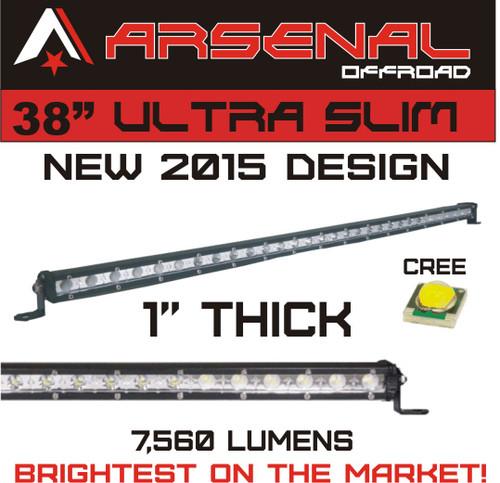 38 cree single row led light bar image 1 aloadofball Choice Image