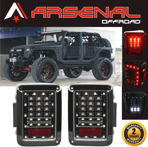 jeep wrangler led tail lights 2017 design clear lens led tail lights rh arsenal offroad com