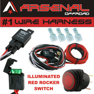 #1 40 Amp Universal Wiring Harness comes with 40 Relay, Illuminated ON/OFF Rocker Switch for Offroad LED Light Bars and Work Lights, Jeep, ATV, UTV, Truck, SUV, Polaris Razor RZR, Yamaha, Ranger