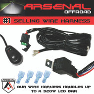 #1 ArsenalTM Fog Light 40 Amp Universal Wiring Harness on the Market! comes w/Relay ON/OFF Switch connectors, Great for LED Work Lights, Fog lights, ATV, UTV, Truck, SUV, Polaris Razor RZR, Yamaha, Ranger