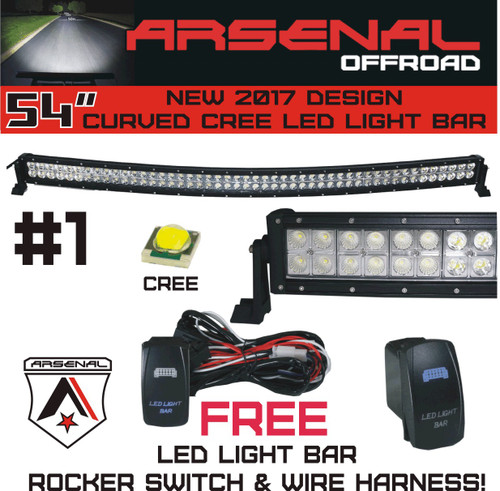 1 54 inch curved 312w cree led light bar by arsenal offroad spot 1 54 inch curved 312w cree led light bar by arsenal offroad spot flood combo beam 28080lm for trucks 4x4 jeeps truck utv suv 4wd rzr tractors rock light aloadofball Images