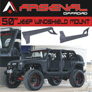 Arsenal 50-inch LED Light Bar Upper Windshield Mounting Brackets for (Jeep JK) for Jeep: Wrangler JK 4WD