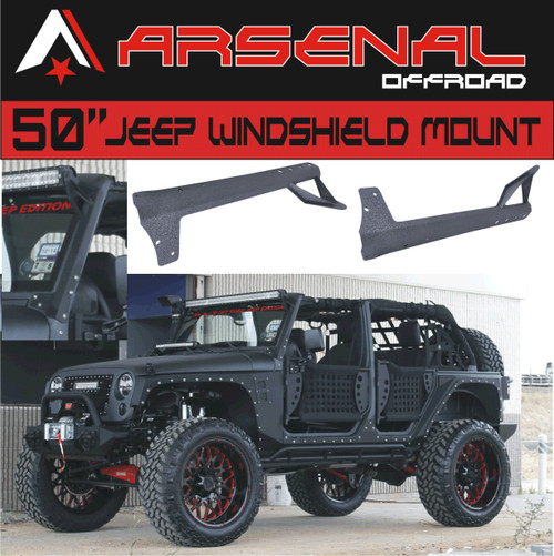Arsenal 50 inch led light bar upper windshield mounting brackets arsenal 50 inch led light bar upper windshield mounting brackets for jeep jk for jeep wrangler jk 4wd mozeypictures Images