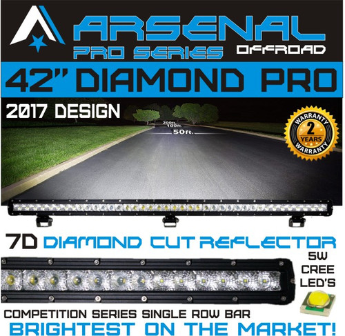 1 42 7d diamond pro series single row led light bar floodspot image 1 mozeypictures Images