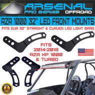"No.1 Arsenal 30"" & 32"" Pro Upper LED Light Bar Mount Brackets for UTV Polaris RZR XP900 XP1000 RZR4 XP4 2014-2018"