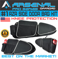 Arsenal Pro RZR Door Bags for Polaris RZR XP 1000 Turbo XP4 900XC S900, Off road Side Storage Door Bags with Knee Pad Protection (1 Pair)