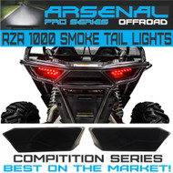 #1 Polaris RZR Smoked LED Tail Lights by Arsenal Rear Tail Lamp Replacement for POLARIS 2014 - 2017 RZR 1000 900 XP 4 TURBO (1 Pair) Best on the Market!