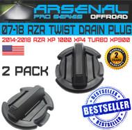 No.1 Twist Polaris floor Rocker Panel Drain Plug RZR XP900 XP1000 XP4 TURBO (2 Pack)