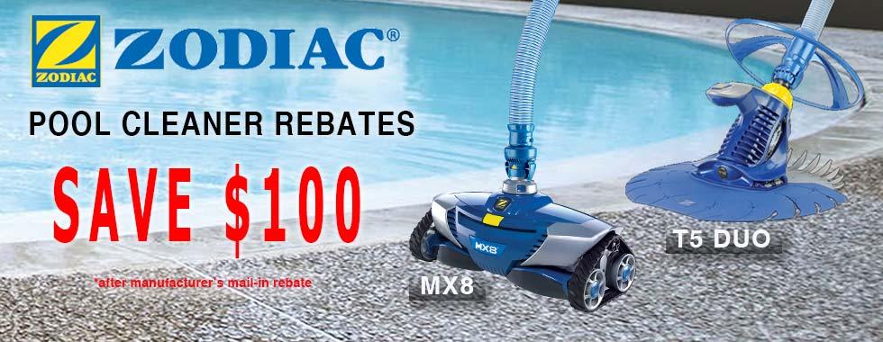 Zodiac Baracuda MX8 and T5 Duo Pool Cleaner Rebate