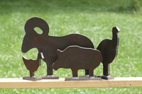 NRA Half Scale Silhouettes - 4 pcs. AR500