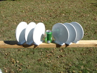 "NRA 8"" Action Steel Knockover Plates - 6 Plates - Free Shipping"