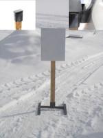 "Hanging Steel Challenge Target w/base- 18"" x 24"" Rectangle 3/8"" AR500 Steel Plate"