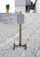 "Hanging Steel Challenge IDPA 2/3 Scale Target w/base- 3/8"" AR500 Steel Plate"